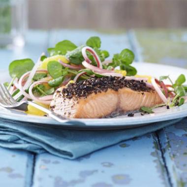 salmon orange salad