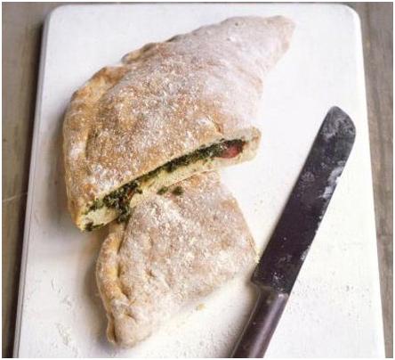 Kale Salami calzone receipe