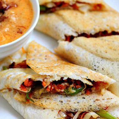 Vegetable Roll Dosa Recipe