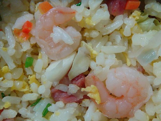shrimp and vegie fried rice