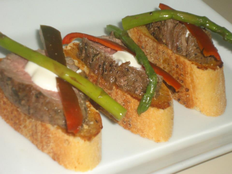 Canape de Roast Beef