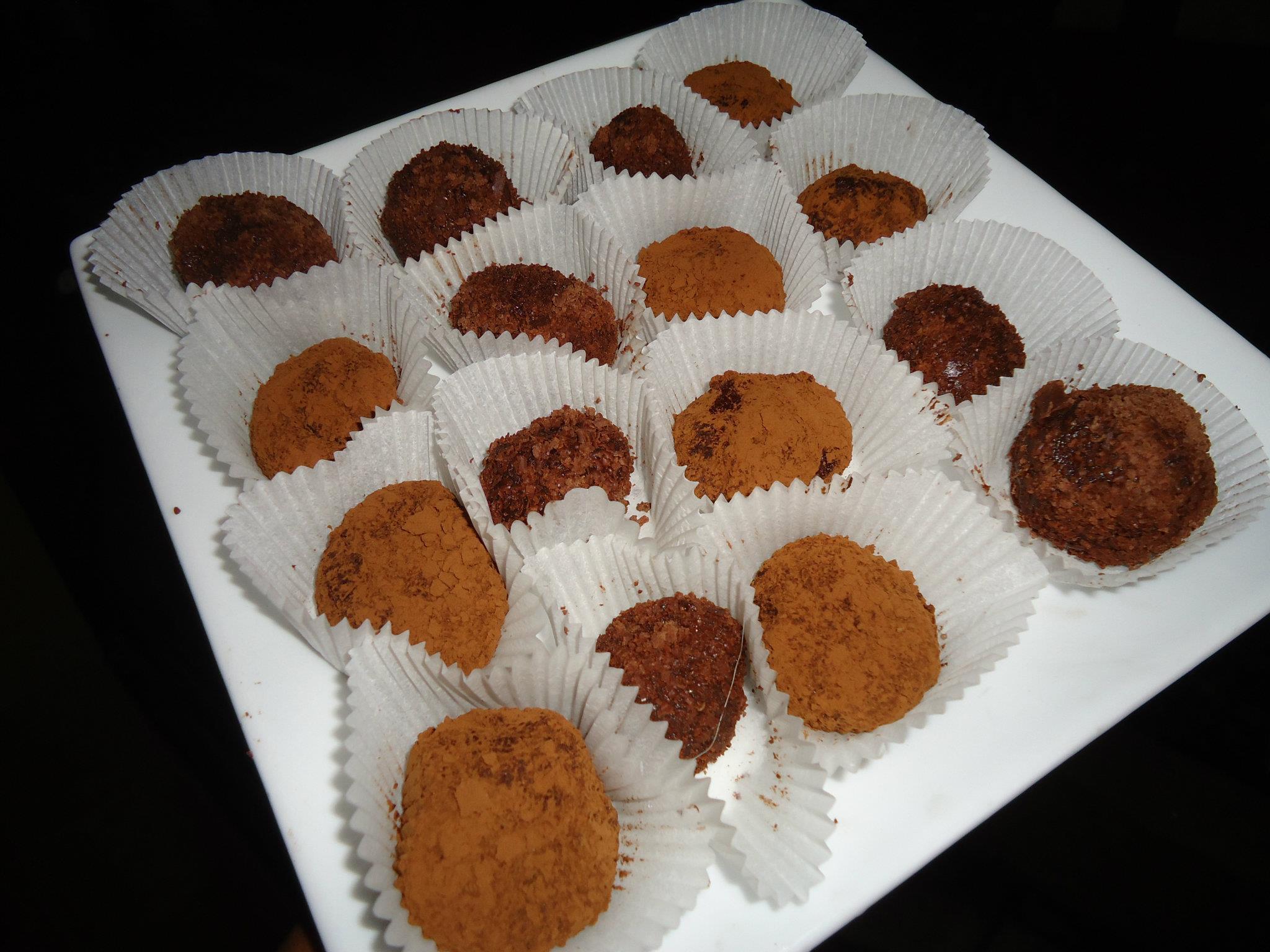 Trufas de Cafe y Chocolate