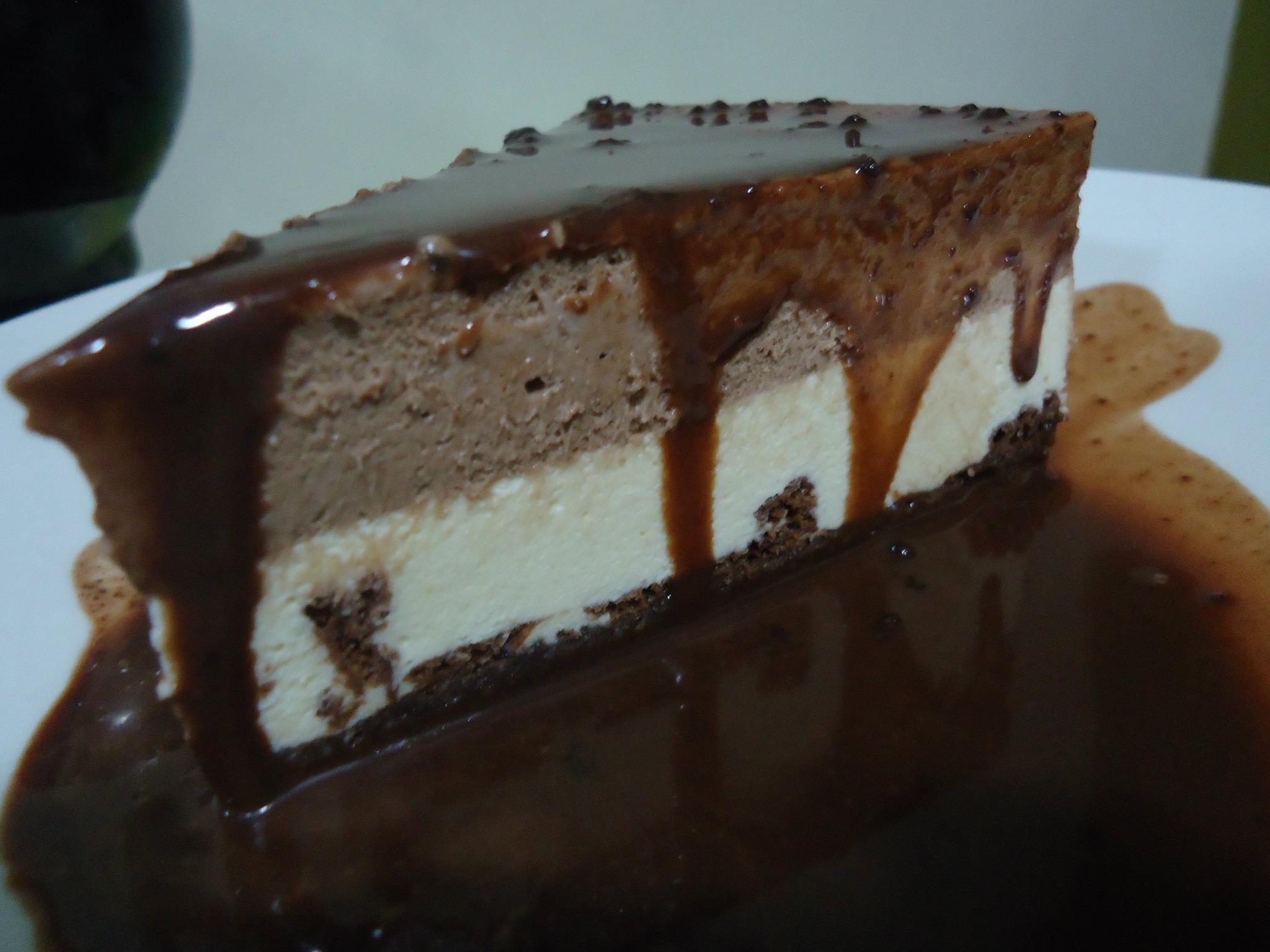 Mousse mixto de chocolate blanco