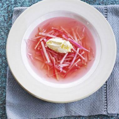Rhubarb vanilla soup recipe