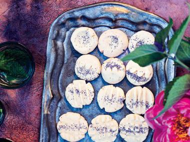 Rose Water Shortbread Cookies