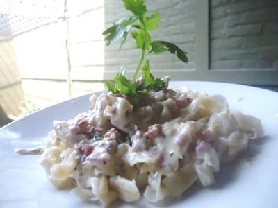 Fettuccini with Carbonara Sauce